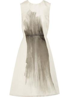 Vera Wang Printed stretch cotton-jersey dress