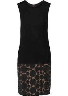 Vera Wang Rosette-embellished jersey dress