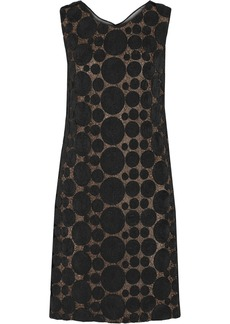 Vera Wang Rosette-embellished lace dress