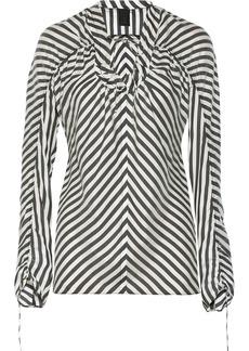 Vera Wang Ruched silk top