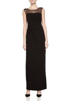 Vera Wang Sheer Top Gown, Black