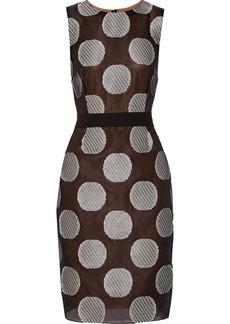 Vera Wang Silk-blend dress