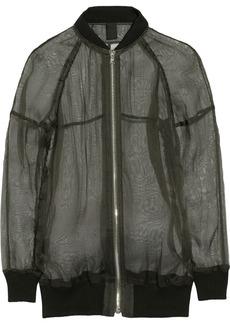 Vera Wang Silk-gauze jacket