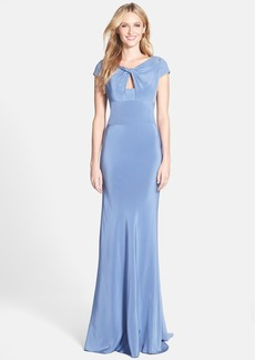 Vera Wang Stretch Crepe Colum Gown