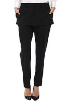 Vera Wang Stretch Gaberdine Trouser with Miniskirt Peplum