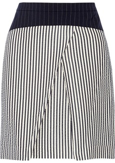 Vera Wang Striped woven skirt