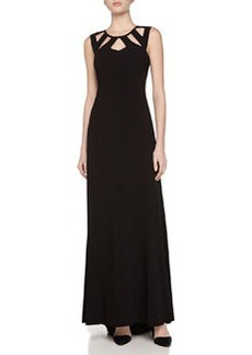Vera Wang Top Cutout Gown, Black