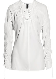 Vera Wang Washed-silk blouse