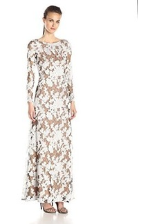 Vera Wang Women's Floral Lace Long Dress