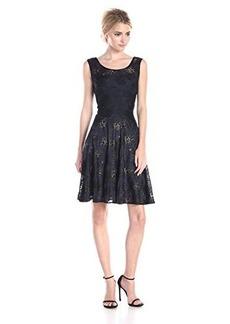 Vera Wang Women's Lace Drop Waist Dress