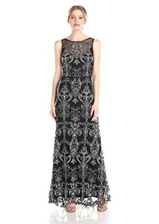 Vera Wang Women's Sleeveless Gown with Delicate Beading