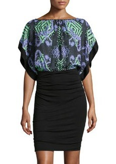 Versace Abito Donna Dress w/ Printed Caftan Top