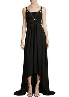 Versace Bandeau Harness High-Low Maxi Dress