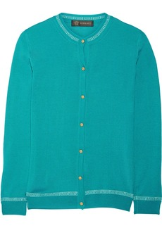 Versace Cashmere and silk-blend cardigan