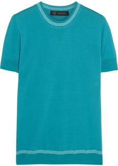 Versace Cashmere and silk-blend top