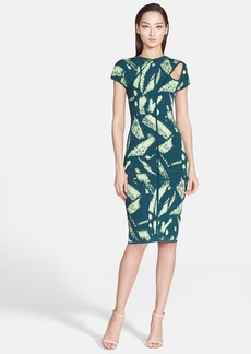 Versace Collection Abstract Print Cutout Dress