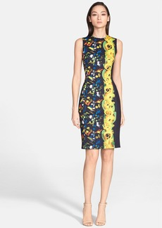 Versace Collection Abstract Print Sleeveless Neoprene Dress