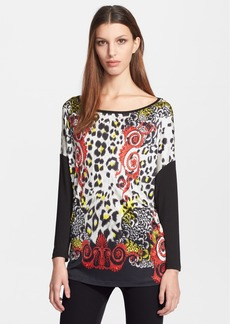 Versace Collection Barocco Print Jersey Top