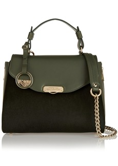 Versace Collection Calf hair and leather shoulder bag