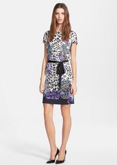 Versace Collection Cap Sleeve Print Jersey Dress