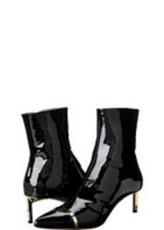 Versace Collection Capped Toe Kitten Heel Bootie