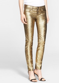 Versace Collection Coated Metallic Jeans