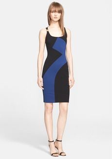 Versace Collection Colorblock Jersey Dress