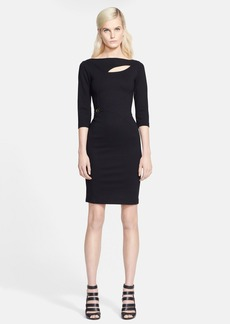 Versace Collection Cutout Punto Milano Dress