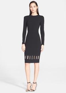 Versace Collection Eyelet Hem Detail Long Sleeve Dress