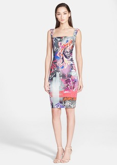 Versace Collection Graffiti Print Sleeveless Dress
