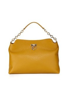 Versace Collection Large Shoulder Tote Bag, Yellow