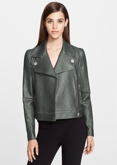 Versace Collection Leather Moto Jacket