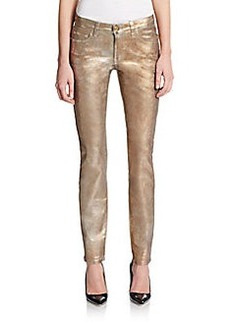 Versace Collection Metallic Coated Skinny Jeans