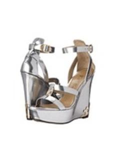 Versace Collection Metallic Wedge Sandal