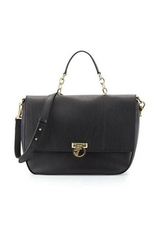 Versace Collection Pebbled Leather Satchel Bag