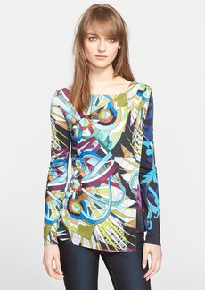 Versace Collection Print Jersey Top