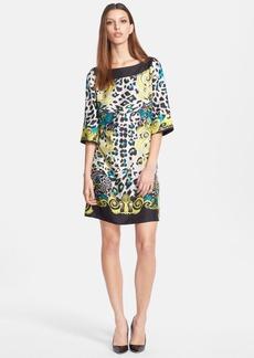 Versace Collection Print Silk Shift Dress