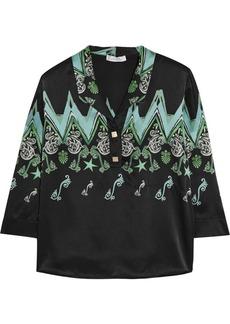 Versace Collection Printed silk-satin shirt