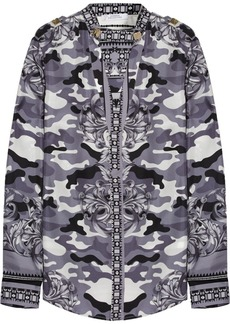 Versace Collection Printed silk-satin twill shirt