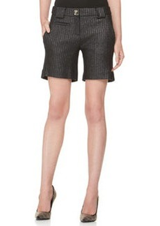 Versace Collection Raffia Shorts, Black