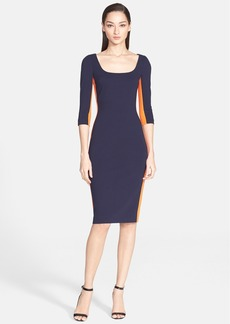 Versace Collection Side Stripe Milano Knit Dress
