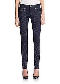 Versace Collection Skinny Denim Moto Trousers