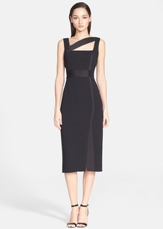 Versace Collection Sleeveless Crepe Dress with Banding
