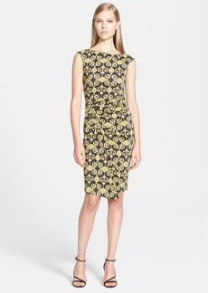 Versace Collection Sleeveless Gold Print Jersey Dress