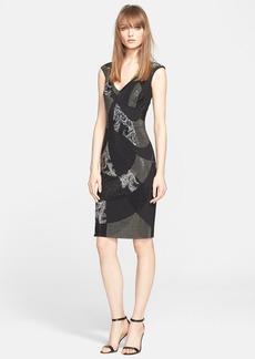 Versace Collection Studded Cap Sleeve Sheath Dress
