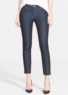 Versace Collection Studded Skinny Ankle Jeans (Denim)