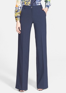 Versace Collection Wide Leg Stretch Cady Pants