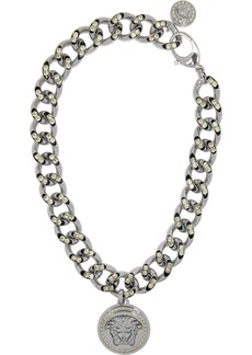 Versace Crystal-embellished silver-tone necklace