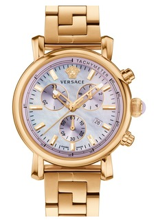 Versace 'Day Glam' Chronograph Bracelet Watch, 38mm