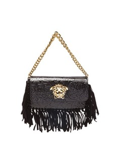 """VERSACE <div class=""""product_name"""">Embossed Leather Fringe Bag</div>"""